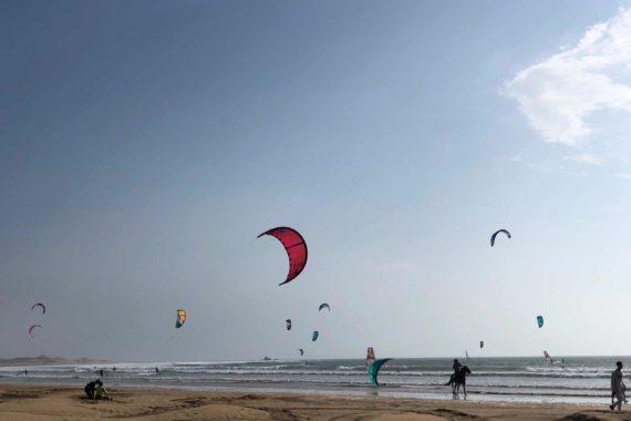 Pavillon bleu pour la plage d'Essaouira!